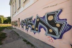 Graffiti on wall. Graffiti on a wall in kharkiv city ukraina Stock Images