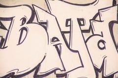 Graffiti on the wall Stock Photography
