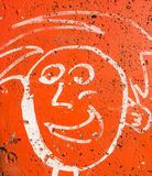 Graffiti on a wall with many colours,abstract urban culture Stock Images