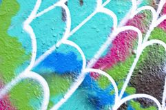 Graffiti wall in the Netherlands Stock Photos