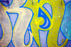 Graffiti Wall. Nice Highly Detailed Graffiti Wall Texture Background Stock Images