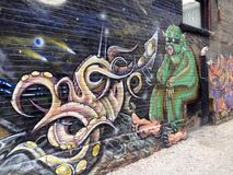 Graffiti on the wall Royalty Free Stock Image
