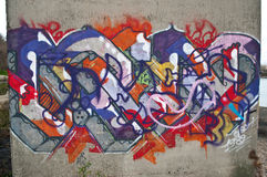 Graffiti on the wall royalty free stock photos