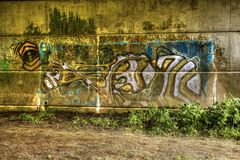 Graffiti on wall A Royalty Free Stock Photo