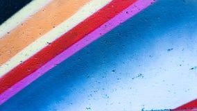 Graffiti wall. Red purple and blue paint Stock Image