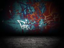Graffiti Wall Room Interior Stage Background Texture Stock Photos