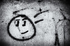 Graffiti wall with smile face. Street art background Royalty Free Stock Photos