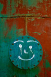 Graffiti on the wall. With spray Royalty Free Stock Photography