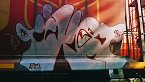 Graffiti on wall. Graffiti or street art on exterior wall Royalty Free Stock Images