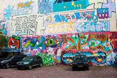 Graffiti  on wall. Graffiti on wall in the streets Stock Photography