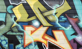 Graffiti on wall Royalty Free Stock Images