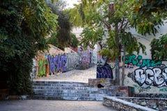 Graffiti on the walls, Athens stock photos