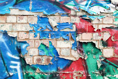 Graffiti-Wand Stockbild