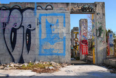 Graffiti-Wand-Vandale Stree-Kunst Stockbild