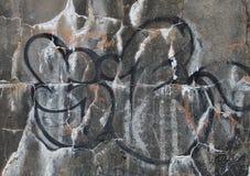 Graffiti on a weathered wall Stock Photo
