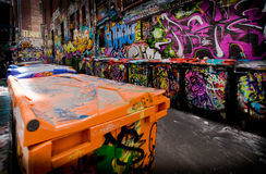 Graffiti-Weg Lizenzfreies Stockfoto