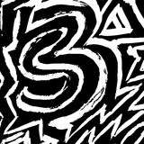 Graffiti white lines on a black background vector illustration. (vector eps 10 Royalty Free Stock Photo