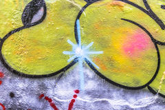 Graffiti świat Obrazy Stock