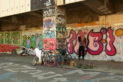 Graffiti in Wien Lizenzfreies Stockbild