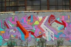 Graffiti in Williamsburg-sectie in Brooklyn Stock Afbeelding