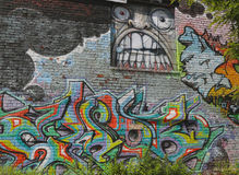 Graffiti in Williamsburg section in Brooklyn Stock Photo