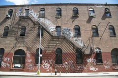 Graffiti in Williamsburg section in Brooklyn Stock Image