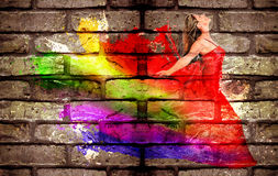 Graffiti of a woman Royalty Free Stock Images