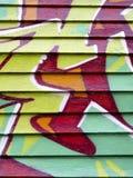 Graffiti on wood Royalty Free Stock Image