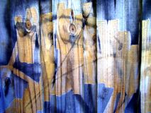 Graffiti on wood Royalty Free Stock Photography