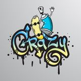 Graffiti word character print Royalty Free Stock Photos