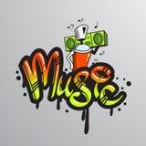 Graffiti word character print Royalty Free Stock Image