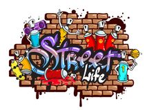 Free Graffiti Word Characters Composition Royalty Free Stock Images - 43956549