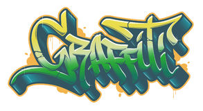 Graffiti word in graffiti style. Vector text Royalty Free Stock Photo