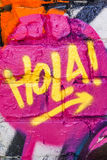Graffiti word Hola Royalty Free Stock Images