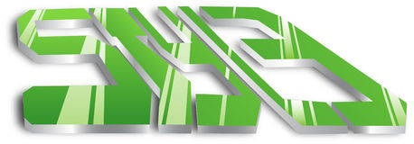 Graffiti word STYLE. Vector graffiti 3d word abstraction Royalty Free Stock Photography