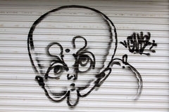 Graffiti works on the walls, Beijing Royalty Free Stock Images