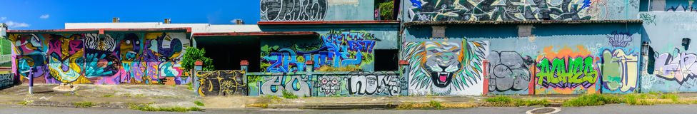 Graffiti World. Graffiti art on abandon building Royalty Free Stock Photo