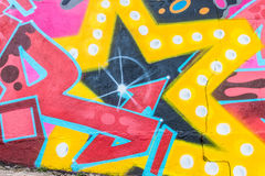 Graffiti World. Graffiti art Pieces Lines and Colors Stock Photo