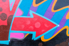 Graffiti World. Graffiti art Pieces Lines and Colors Royalty Free Stock Photography