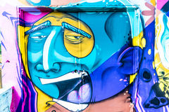 Graffiti World. Graffiti art Pieces Lines and Colors Royalty Free Stock Images