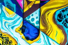 Graffiti World. Graffiti art Pieces Lines and Colors Royalty Free Stock Image
