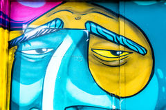 Graffiti World. Graffiti art Pieces Lines and Colors Royalty Free Stock Photos