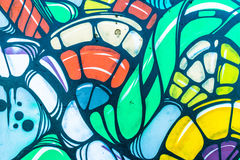Graffiti World. Graffiti art Pieces Lines and Colors Stock Image