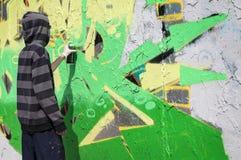 Graffiti writer Royalty Free Stock Photos