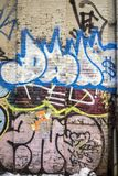 Graffiti is writing or drawings on wall Royalty Free Stock Photography