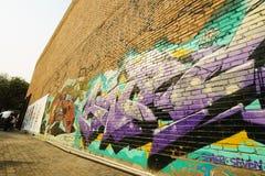 Graffiti züchten auf Verzicht 798 Fabrik Stockbilder