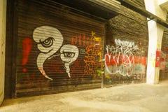 Graffiti züchten auf Verzicht 798 Fabrik Lizenzfreie Stockfotografie