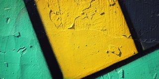 Graffiti zbliżenie - retro fotografia Koloru ścienny makro- tło Obraz Stock