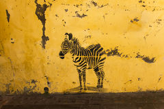 Graffiti Zebra Royalty Free Stock Photography