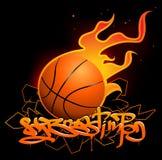 Graffitibeeld van het basketbal Royalty-vrije Stock Afbeelding